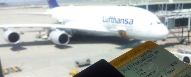 Warten auf den A380-Flug