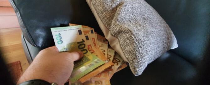 Hohe Mengen Bargeld im Umlauf